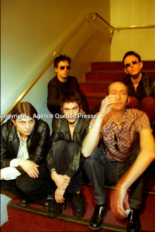 le groupe pop SUEDE en spectacle au Quebec dans les annees 90 (date exacte inconnue) <br /> <br /> PHOTO :  Agence Quebec Presse