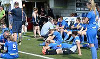 20180526 - Eupen , BELGIUM : Genk's players looks dejected after  the final of Belgian cup 2018 , a soccer women game between KRC Genk Ladies and Standard Femina de Liege  , in the  Kehrweg stadion in Eupen , saturday 26 th May 2018 . PHOTO SPORTPIX.BE | DAVID CATRY