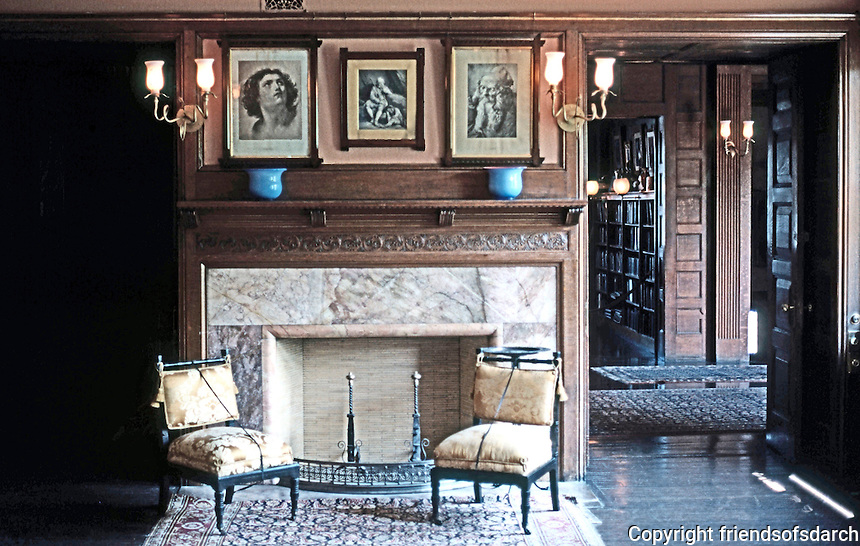 H. H. Richardson: Glessner House, Chicago. Living room.
