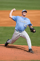 Starting pitcher Matt Harvey #43 of the North Carolina Tar Heels in action versus the Clemson Tigers at Durham Bulls Athletic Park May 23, 2009 in Durham, North Carolina. The Tigers defeated the Tar Heals 4-3 in 11 innings.  (Photo by Brian Westerholt / Four Seam Images)