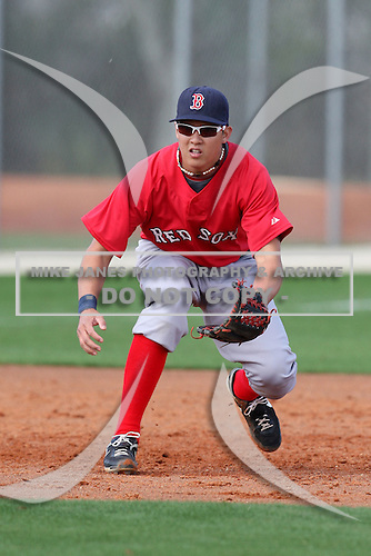 March 18, 2010:  Infielder Jonathan Hee of the Boston Red Sox organization during Spring Training at Ft.  Myers Training Complex in Fort Myers, FL.  Photo By Mike Janes/Four Seam Images