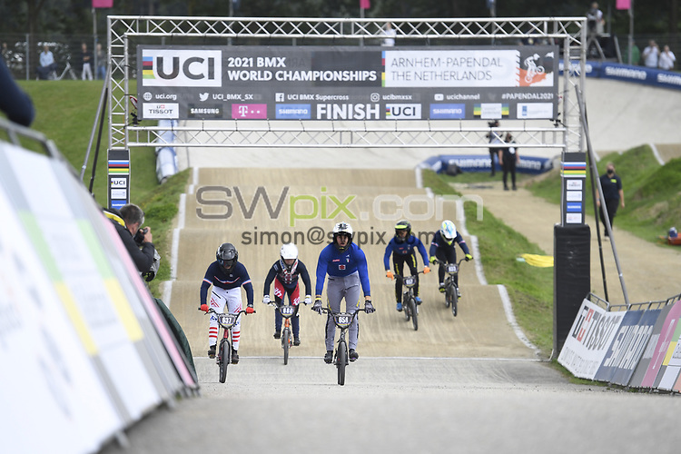Picture by Will Palmer/SWpix.com - 22/08/2021 - Cycling - UCI BMX World Championships 2021 - Papendal National Sports Centre, Arnhem, Netherlands - Marco Radaelli of Italy wins Gold in the Junior Men's final.