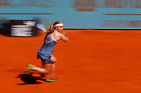 Dominika Cibulkova of Slovakia in her match against   Naomi Osaka of Japan during day three of the Mutua Madrid Open at La Caja Magica on May 05, 2019 in Madrid, Spain. /NortePhoto.com