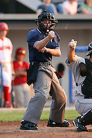 2007 MiLB Umpire Keith Rogowski during the New York-Penn League season.  Photo by Mike Janes/Four Seam Images