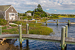 The fishing village of Menemsha, Marthas Vineyard, Massachusetts, USA