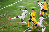 24th March 2021; Leuven, Belgium;  Romelu Lukaku of Belgium misses a good scoring chance during the World Cup Qatar 2022 Qualifiers Match between Belgium and Wales on March 24, 2021 in Leuven, Belgium