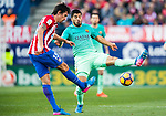 Luis Suarez (r) of FC Barcelona in action during their La Liga match between Atletico de Madrid and FC Barcelona at the Santiago Bernabeu Stadium on 26 February 2017 in Madrid, Spain. Photo by Diego Gonzalez Souto / Power Sport Images