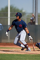 Cleveland Indians Juan Garcia (44) during an instructional league game against the Milwaukee Brewers on October 8, 2015 at the Maryvale Baseball Complex in Maryvale, Arizona.  (Mike Janes/Four Seam Images)