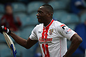 Lucas Akins of Stevenage celebrates scoring the opening goal<br />  - Peterborough United v Stevenage - Sky Bet League One - London Road, Peterborough - 23rd November 2013. <br /> © Kevin Coleman 2013