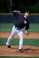 New York Yankees pitcher Hobie Harris (53) delivers a pitch during a Florida Instructional League game against the Pittsburgh Pirates on September 25, 2018 at Yankee Complex in Tampa, Florida.  (Mike Janes/Four Seam Images)