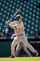 Baylor Bears third baseman Jonathan Ducoff (37) at bat during Houston College Classic against the Hawaii Rainbow Warriors on March 6, 2015 at Minute Maid Park in Houston, Texas. Hawaii defeated Baylor 2-1. (Andrew Woolley/Four Seam Images)