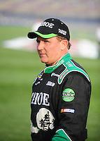Feb 21, 2009; Fontana, CA, USA; NASCAR Nationwide Series driver Dennis Setzer prior to the Stater Brothers 300 at Auto Club Speedway. Mandatory Credit: Mark J. Rebilas-