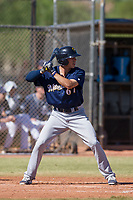 Milwaukee Brewers outfielder Zach Clark (67) at bat during an Instructional League game against the San Diego Padres on September 27, 2017 at Peoria Sports Complex in Peoria, Arizona. (Zachary Lucy/Four Seam Images)