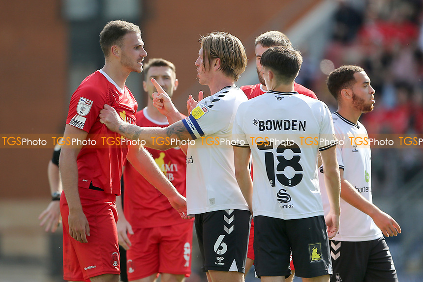 Tempers flare during Leyton Orient vs Oldham Athletic, Sky Bet EFL League 2 Football at The Breyer Group Stadium on 11th September 2021