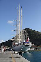 Star Clipper im Hafen von Philipsburg St. Maarten