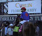 MARCH 27, 2021: #8 CHURN N BURN and Jockey Julien Leparoux win the Pan American Stakes for Trainer Bill Mott on Florida Derby Day at Gulfstream Park in Hallandale Beach, Florida on March 27, 2021. Carson Dennis/Eclipse Sportswire/CSM
