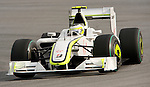 05 Apr 2009, Kuala Lumpur, Malaysia --- Brawn GP Formula 1 Team driver Rubens Barrichelo of Brazil steers his car during the 2009 Fia Formula One Malasyan Grand Prix at the Sepang circuit near Kuala Lumpur. Photo by Victor Fraile --- Image by © Victor Fraile / The Power of Sport Images