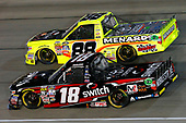 NASCAR Camping World Truck Series<br /> TheHouse.com 225<br /> Chicagoland Speedway, Joliet, IL USA<br /> Friday 15 September 2017<br /> Noah Gragson, Switch Toyota Tundra and Matt Crafton, Black Label Bacon/Menards Toyota Tundra<br /> World Copyright: Russell LaBounty<br /> LAT Images