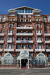 Great Britain, England, East Sussex, Brighton: Exterior of the Hilton Brighton Metropole Hotel along Kings Road on the seafront