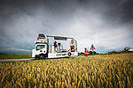 The publicity caravan before Stage 3 of the 2021 Tour de France, running 182.9km from Lorient to Pontivy, France. 28th June 2021.  <br /> Picture: A.S.O./Aurelien Vialatte | Cyclefile<br /> <br /> All photos usage must carry mandatory copyright credit (© Cyclefile | A.S.O./Aurelien Vialatte)