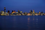 Liverpool waterfront, day and night views
