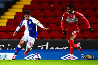 Blackburn Rovers' Tyrhys Dolan competes with Middlesbrough's Djed Spence<br /> <br /> Photographer Richard Martin-Roberts/CameraSport<br /> <br /> The EFL Sky Bet Championship - Blackburn Rovers v Middlesbrough - Tuesday 3rd November 2020 - Ewood Park - Blackburn<br /> <br /> World Copyright © 2020 CameraSport. All rights reserved. 43 Linden Ave. Countesthorpe. Leicester. England. LE8 5PG - Tel: +44 (0) 116 277 4147 - admin@camerasport.com - www.camerasport.com