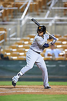 Salt River Rafters Isan Diaz (12), of the Milwaukee Brewers organization, during a game against the Glendale Desert Dogs on October 19, 2016 at Camelback Ranch in Glendale, Arizona.  Salt River defeated Glendale 4-2.  (Mike Janes/Four Seam Images)