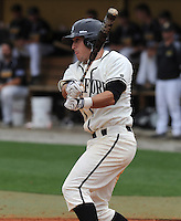 Outfielder Mac Doyle (3) of the Wofford College Terriers in a game against the Appalachian State Mountaineers on April 28, 2012, at Russell C. King Field in Spartanburg, South Carolina. (Tom Priddy/Four Seam Images)
