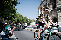 Tony Martin (DEU/Jumbo-Visma) wearing an ice vest for sign-on at the race start in front of the Arena in Nîmes<br /> <br /> Stage 16: Nîmes to Nîmes (177km)<br /> 106th Tour de France 2019 (2.UWT)<br /> <br /> ©kramon