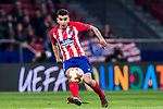 Angel Correa of Atletico de Madrid in action during the UEFA Europa League 2017-18 Round of 16 (1st leg) match between Atletico de Madrid and FC Lokomotiv Moscow at Wanda Metropolitano  on March 08 2018 in Madrid, Spain. Photo by Diego Souto / Power Sport Images