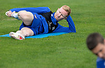 St Johnstone Training....   Ali Crawford pictured during training at McDiarmid Park ahead of Saturday's game against Rangers.<br />Picture by Graeme Hart.<br />Copyright Perthshire Picture Agency<br />Tel: 01738 623350  Mobile: 07990 594431