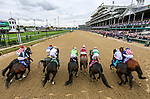November 2, 2018: The starting gate of the Tito's Handmade Vodka Juvenile Fillies on Breeders' Cup World Championship Friday at Churchill Downs on November 2, 2018 in Louisville, Kentucky. Matt Wooley/Eclipse Sportswire/CSM
