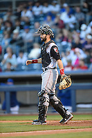 ***Temporary Unedited Reference File***Arkansas Travelers catcher Anthony Bemboom (10) during a game against the Tulsa Drillers on April 28, 2016 at ONEOK Field in Tulsa, Oklahoma.  Tulsa defeated Arkansas 5-4.  (Mike Janes/Four Seam Images)
