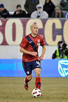 Michael Bradley (4) of the United States. The United States (USA) and Argentina (ARG) played to a 1-1 tie during an international friendly at the New Meadowlands Stadium in East Rutherford, NJ, on March 26, 2011.