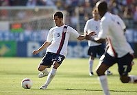 Benny Feilhaber kicks the ball. The USA defeated China, 4-1, in an international friendly at Spartan Stadium, San Jose, CA on June 2, 2007.