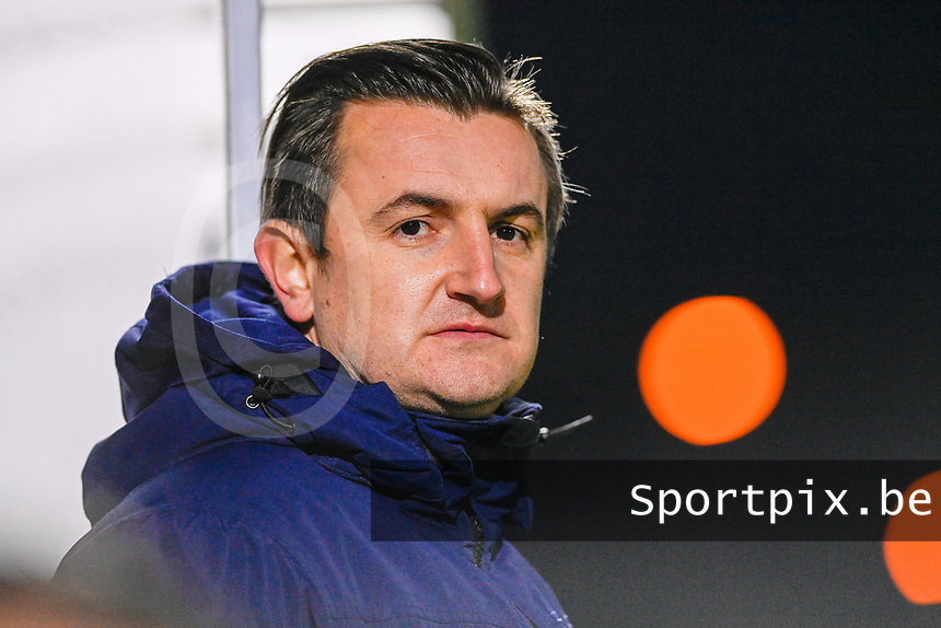 Head Coach Dave Mattheus  of AA Gent pictured during a female soccer game between  Racing Genk Ladies and AA Gent Ladies on the eleventh matchday of the 2020 - 2021 season of Belgian Scooore Womens Super League , friday 22 th of January 2021  in Genk , Belgium . PHOTO SPORTPIX.BE | SPP | DAVID CATRY