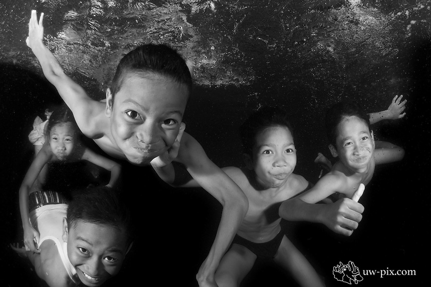 Kids having fun in Amed / Bali