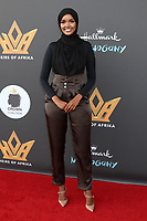 LOS ANGELES - AUG 8:  Halima Aden at the Heirs Of Afrika 4th Annual International Women of Power Awards at the Marriott Marina Del Rey on August 8, 2021 in Marina Del Rey, CA