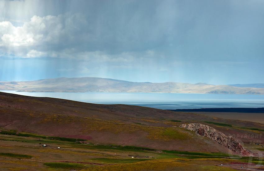 Storm over Lake Namtso, Tibet