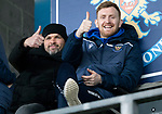 St Johnstone v Livingston…..07.03.20   McDiarmid Park  SPFL<br />Liam Craig and Callum Davidson watch from the staqnds<br />Picture by Graeme Hart.<br />Copyright Perthshire Picture Agency<br />Tel: 01738 623350  Mobile: 07990 594431