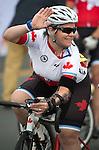 Marie-Ève Croteau, Toronto 2015 - Para Cycling // Paracyclisme. <br /> Marie-Ève Croteau competes in the Mixed T1-2 event // Marie-Ève Croteau participe à l'épreuve mixte T1-2. 08/08/2015.
