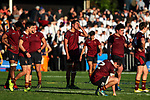 Dejected Kings players during the 1st XV Rugby match between Kings College and Auckland Grammar, Auckland Grammar, Auckland, New Zealand. Saturday 17 June 2017. Photo: Simon Watts/www.bwmedia.co.nz for Kings College