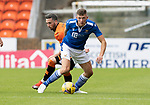Dundee United v St Johnstone…..01.08.20   Tannadice  SPFL<br />Liam Gordon and Nicky Clark<br />Picture by Graeme Hart.<br />Copyright Perthshire Picture Agency<br />Tel: 01738 623350  Mobile: 07990 594431