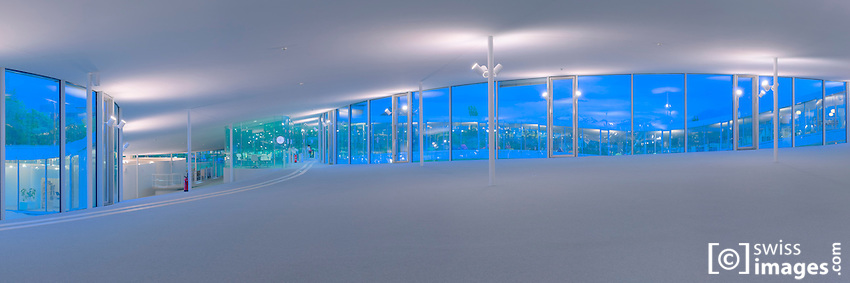 View of the Rolex Learning Center at the EPFL - Architects: EPFL/SANAA