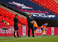 1st November 2020; Wembley Stadium, London, England; Womens FA Cup Final Football, Everton Womens versus Manchester City Womens; Everton Women Manager Willie Kirk looks on from the touchline