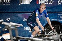 Michael Morkov (DEN/Deceuninck - Quick Step) warming up pre-stage<br /> <br /> Stage 5 (ITT): Time Trial from Changé to Laval Espace Mayenne (27.2km)<br /> 108th Tour de France 2021 (2.UWT)<br /> <br /> ©kramon