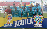 MONTERÍA - COLOMBIA ,05-10-2019:Formación de Jaguares de Córdoba. Acción de juego entre los equipos  Jaguares de Córdoba y Once Caldas durante partido por la fecha 15 de la Liga Águila II 2019 jugado en el estadio Municipal Jaraguay de Montería . /Team of Jaguares of Cordoba.Action game between teams  Jaguares of Cordoba and Once Caldas during the match for the date 15 of the Liga Aguila II 2019 played at Municipal Jaraguay Satdium in Monteria City . Photo: VizzorImage / Contribuidor.