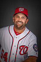 22 February 2019: Washington Nationals Hitting Coach Kevin Long poses for his Photo Day portrait at the Ballpark of the Palm Beaches in West Palm Beach, Florida. Mandatory Credit: Ed Wolfstein Photo *** RAW (NEF) Image File Available ***