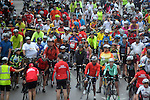 Cyclists prepare to start the annual Tour de Houston bike ride downtown Sunday  March 16, 2014.(Dave Rossman photo)