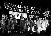 Marche contre la violence envers les femmes, 23 septembre 1983.<br /> <br /> PHOTO : Pierre Roussel -  Agence Quebec Presse